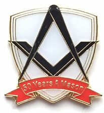 50 Years a Mason Masonic Commemorative Lapel Pin Badge No G