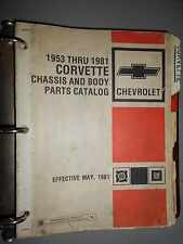 GM Chevrolet CORVETTE - 1953 à 1981 : parts catalog
