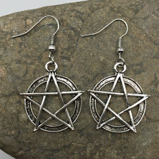 Women Beautiful Retro silver pentagram earrings, Handmade earrings