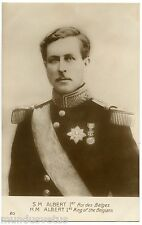 WW1. LE ROI ALBERT 1er . ROI DES BELGES .KING OF THE BELGIANS .