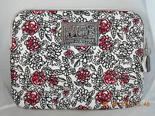 Coach Black White POPPY FLORAL LAPTOP SLEEVE 60677 VERY RARE Collector's HTF