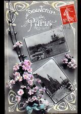 PARIS / SOUVENIR Fleuri ,,, Marché aux FLEURS & NOTRE-DAME , début 1900