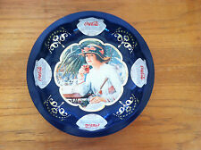 Vintage COCA COLA Round Plate Advertising Tray Tin Wall Hanging Made in USA