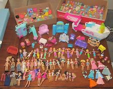 Huge POLLY POCKET & Friends  Mixed Lot w/ Clothes Boat Furniture Disney Bratz