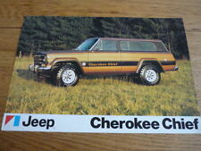 JEEP Cherokee Chief voiture brochure JM