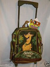 "NEW CANVAS  SCOOBY DOO ROLLING  10"" x 12"" BACKPACK WITH WATER BOTTLE"