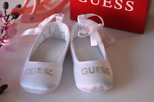 BNIB Genuine Guess Baby Girls Ballerina Shoes Pink & White Size 0-3