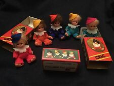 3 Rare Vintage Pedigree Tiny Tots Clown Doll In A Matchbox