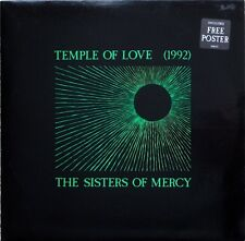 """Sisters Of Mercy Temple Of Love 1992 12"""" with Poster"""
