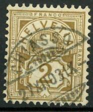 SWITZERLAND - SVIZZERA - 1905 - Tipi del 1882-1899 su carta con framm. di fili