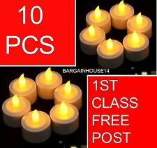 LED Tea Lights Battery Operated Flickering Candles for Party Home Decoration UK