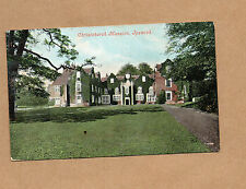 Ipswich Christchurch Mansion tinted posted 1907 Norwich postmark  BR1