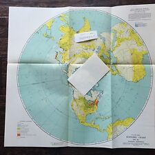 U.S. AIR FORCE Economic Chart, GH - 8a, Northern Hemisphere 1947 - First Edition