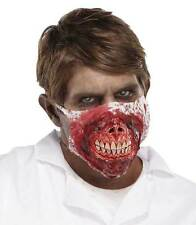 MENS SCARY EVIL DEAD BLOODY ZOMBIE DOCTOR MASK HALLOWEEN FANCY DRESS NEW