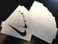 "New 9 x BLACK Swoosh Iron-on decal Logo size 2.25""x 1.0"" Free S&H USA 1a"