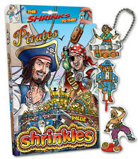 33 Pirata Adornos shrinkles shrinkie Shrink Arte parachoques Box Set & Lápices