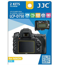 JJC LCP-D750 hard polycarbonate LCD Film Screen Protector For Nikon D750 2 Pack