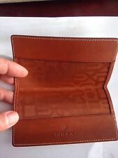 Rolex Brown Colour Leather Wallet Or Document Or Card Holder