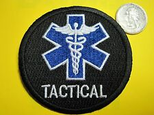 TACTICAL MEDIC PATCH STAR OF LIFE FIRST RESPONDER BLACK  PATCH CIRCLE LOOK!*