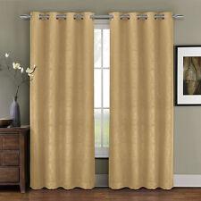 Prairie Grommet Blackout Weave Embossed Room Window Curtain Panels Single Panel