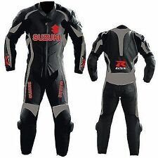 GSXR SUZUKI MOTORBIKE LEATHER SUIT MOTORCYCLE RACING COWHIDE LEATHER SUIT 1-PC