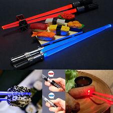 Star Wars Light Up Lightsaber Chopsticks set Darth Vader & Luke Skywalker Koto