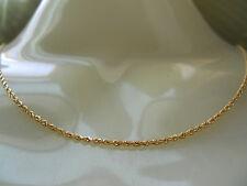 MICHAEL ANTHONY 10K SOLID GOLD DIAMOND CUT ROPE BOX LINK CHAIN NECKLACE 10KT 16""