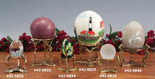 Choice of ONE Gold Silver Tone Metal Sphere Egg Stand Display Holder