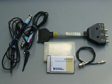 National Instruments DAQCard-5102 NI DAQ Scope Card PCMCIA w/ Adapter, Probes