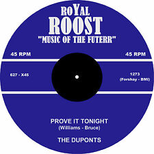 PROVE IT TONIGHT The Duponts * HOT DOO WOP JIVER  *