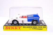 Dinky #223 - McLaren M8A Can Am - White/Blue - Plastic Display Case - A+/A