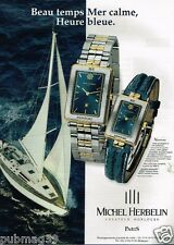 Publicité advertising 1999 Les Montres Michel Herbelin Newport