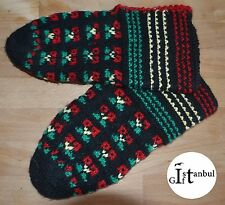 """Turkish hand knitted wool slippers traditional """" PATIK """""""