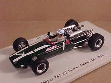 Spark 1/43 Resin Cooper T81, Winner 1966 Mexico GP, #7, John Surtees  #S3521