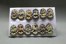 12PC CHINESE ZODIAC MYTHOLOGY PENDANT / ZIPAO JADE / NECKLACE