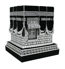 Islamic Table Decor Kaba Replica Muslim Gift Silver & Black
