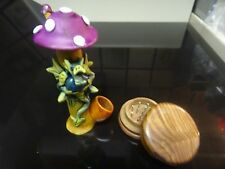 Dragon Under Mushroom w/ Glass Stone Tobacco Pipe + Grinder  5 SCREENS 1310 + G