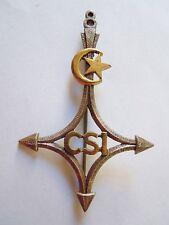 Insigne Sahara 8° CSI Cie Saharienne Infanterie ORIGINAL Drago Paris métal