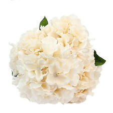 Artificial 5 Flower Heads Bouquet Wedding Hydrangea Party Floral Decor Champagne