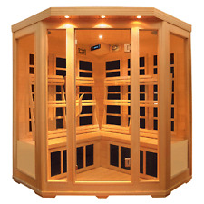 3 (THREE) PERSON CORNER INFRARED SAUNA WITH CARBON HEATERS AND FREE DELIVERY
