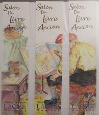 MARQUE PAGES SIGNET PUBLICITAIRE SERIE COMPLETE PUZZLE 3 MP SALON LIVRE SOUVIGNY