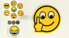 2.48 in annoyed Emoticon Iron on Patches Embroidered Badge Applique patch