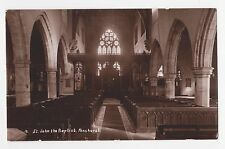 RPPC,Penshurst,U.K.Church of St.John the Baptist,Interior,Kent,c.1909