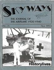 Skyways 26 Bulgarian Stinson R RAAF Bristol Bulldog Lavasseur Savio Marchetti