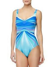 NWT GOTTEX by GOTTEX Seraphine BLUE AND GREEN Swimsuit BATHING SUIT 1pc sz - 16