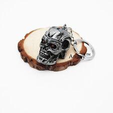 Terminator Keychain Skull Gray Metal Key Ring Modern Character Gift Skeleton