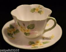 Shelley Fine Bone China England Primrose 13430 Scalloped Cup & Saucer