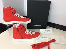 Pierre Hardy Gum Calf High Tops U.K. 7, Eu 40 Red NEW RRP £345 Limited Edition