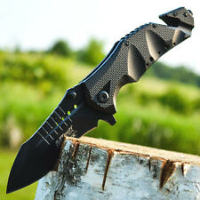 """9"""" M-TECH Spring Assisted Open Tactical Rescue Blade Folding Pocket Knife Switch"""
