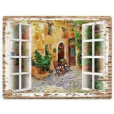 PP0600 French Window Scenery Chic Sign Shop Store Cafe Home Room Kitchen Decor